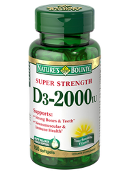 Nature's Bounty Vitamin D3 2,000 IU , 150 Rapid Release Softgels