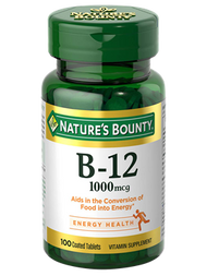 Nature's Bounty Vitamin B-12 1,000 mcg , 100 Coated Tablets