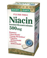 Nature's Bounty Niacin 500mg 50 Capsules