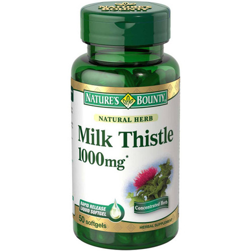 Nature's Bounty Milk Thistle 1,000mg 50 Rapid Release Softgels