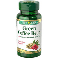 Nature's Bounty Green Coffee Bean with Raspberry Ketones & Green Tea 60 Capsules