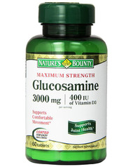 Natures Bounty Glucosamine 3000mg Plus Vitamin D (60 Capsules)