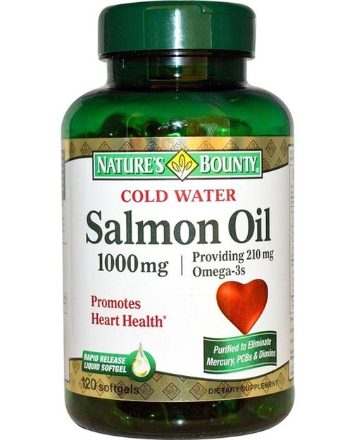 Natures Bounty Salmon Oil - 1000mg - 120 Softgels