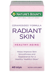 Nature's Bounty Optimal Solutions Radiant Skin Ceramosides 40 Softgels
