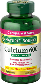 Nature's Bounty Calcium 600+ D (Caltrate+D) High Potency (250 Tablets)