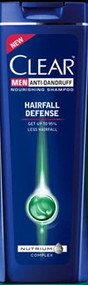 Clear Men Anti-Dandruff Hair Fall Defense Shampoo (Pakistan)