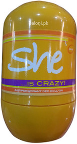 Hunca She Is Crazy Roll-On Deodorant Front