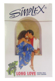 Simplex Love Long Natural Male Latex Condom 12 Piece (front)