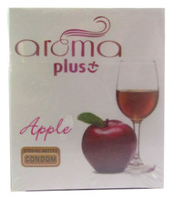 Aroma Plus Apple Special Dotted Condom 3 Piece (Front)