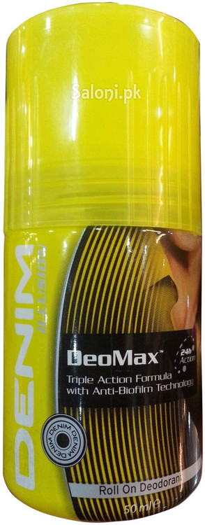 Denim Deomax 24h Action Roll On Deodorant 50 ML Front