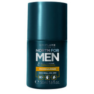 Oriflame North For Men Recharge Deo Roll-on 48H 50ML