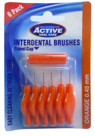Beauty Formulas Interdental Brushes 0.45 mm 6 Pack