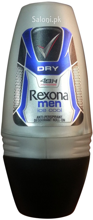 Rexona Men Ice Cool Dry Roll On Deodorant Front