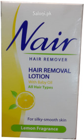 Nair Hair Removal Lotion With Baby Oil Front