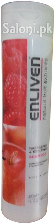 Enliven Raspberry & Red Apple Shampoo 400 ML Front