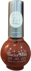 Swiss Miss Quick Dry Nail Enamel Terracotta 208 Front