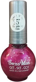 Swiss Miss Quick Dry Nail Enamel Raspberry Rose 257 Front