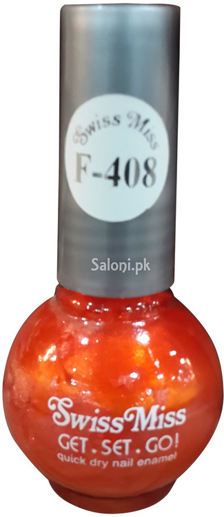 Swiss Miss Quick Dry Nail Enamel F-408 Front
