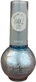 Swiss Miss Quick Dry Nail Enamel Lilac Grey 802 Front