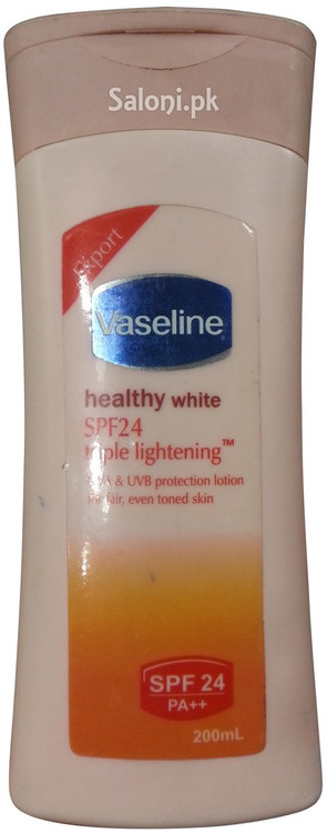 Vaseline Healthy White SPF 24 Triple Lightening Lotion 200 ML Front