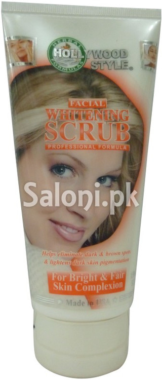 Hollywood Style Facial Whitening Scrub (Front)