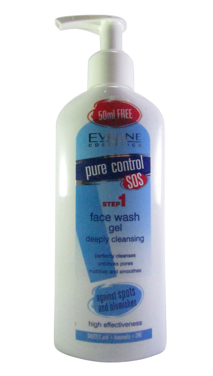 Eveline Pure Control Face Wash Gel Deeply Cleansing 200 ML(Front)