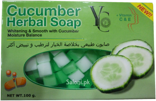YC Cucumber Herbal Soap with Vitamin C & E Front