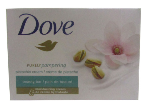 Dove Purely Pampering Pistachio Cream Beauty Bar with Magnolia 113 Grams(front)