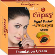 Gipsy Foundation Cream Pearl Facial with Papaya Extract