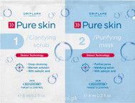 Oriflame Pure Skin 1 Clarifying Scrub 2 Purifying Mask
