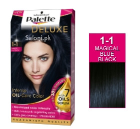 Schwarzkopf Palette Deluxe Intensive Oil Care Color Magical Blue Black 1-1