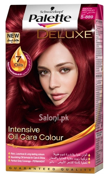 Schwarzkopf Palette Deluxe Intensive Oil Care Color Smooth Red Violet 5-889