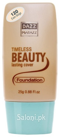 Dazz Matazz Timeless Beauty Lasting Cover Foundation 120 Even Beige