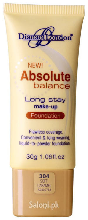 Diana Of London Absolute Balance Long Stay Make-up Foundation 304 Soft Caramel Front