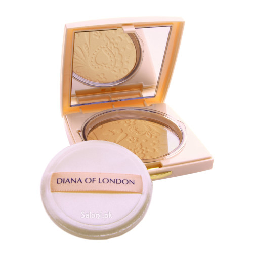 Diana Absolute Stay Compact Face Powder 406 Natural Almond Front