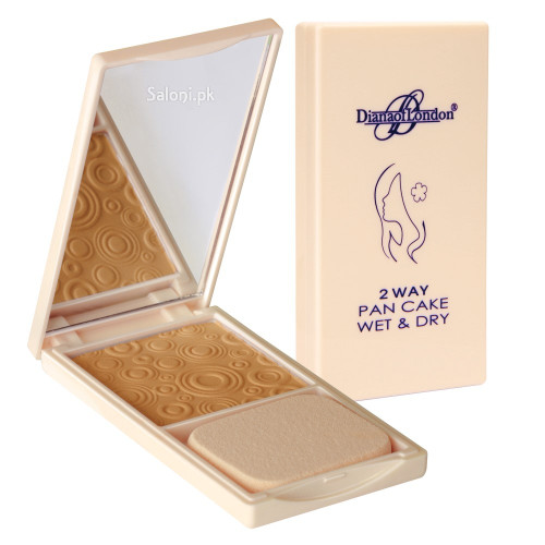 Diana 2 way Pan Cake Wet & Dry Powder Foundation 113 Soft Peach Front