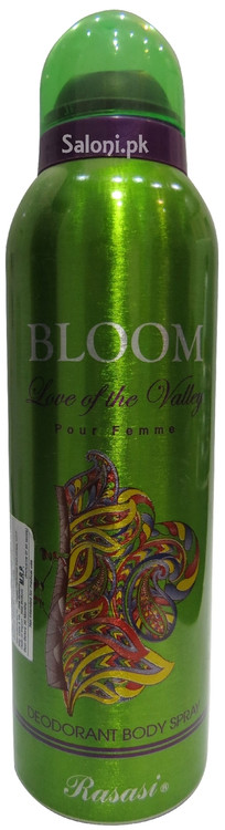 Rasasi Bloom Love of The Valley Pour Femme Deodorant Body Spray