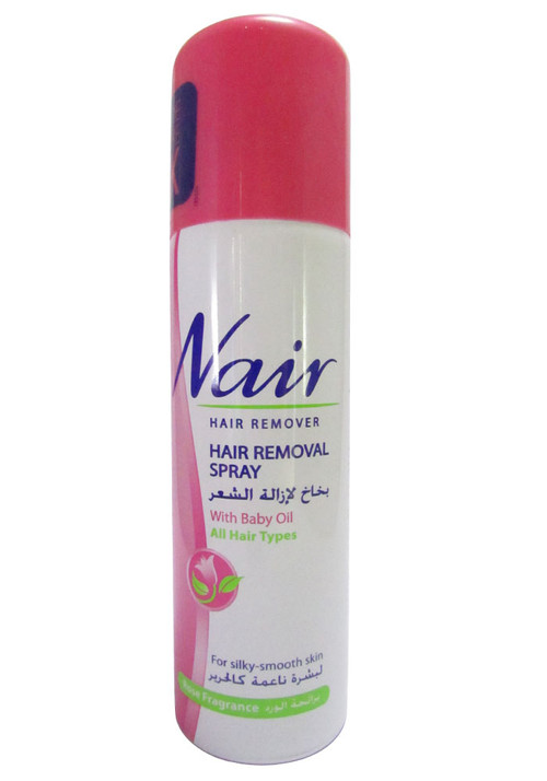 Nair Hair Remover (Hair Removal Spray With Baby Oil) 6.76 FL OZ (200 ML)