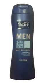Suave Men 2-in-1 Anti-Dandruff Classic Clean Shampoo & Conditioner 373 ML(Front)