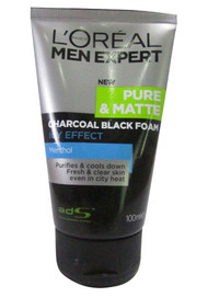 L'oreal Paris Men Expert Pure & Matte Charcoal Black Foam 100 ML