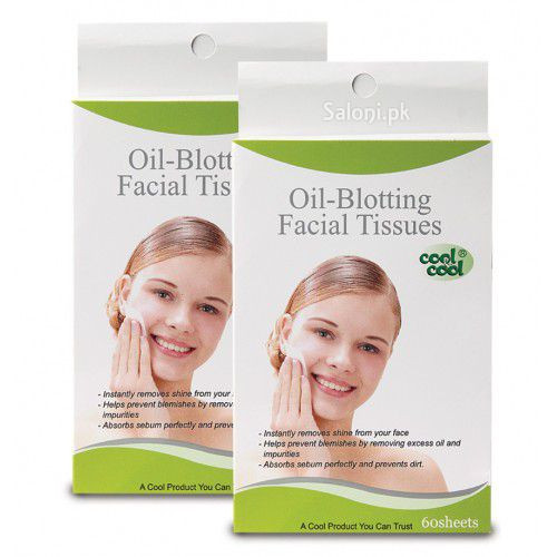Cool & Cool Oil Blotting Facial Tissues