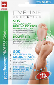 Eveline Professional Foot Scrub + Mask