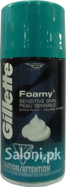 Gillette Foamy Sensitive Skin Shave Foam (Front)