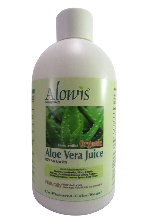 Alowis Organic Whole Leaf Aloe Vera Juice