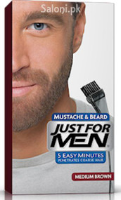 Just For Men Brush-In Color Mustache & Beard Gel Medium Brown M-35
