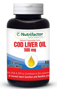 Nutrifactor COD Liver Oil 500Mg (Natural Triglyceride Form)