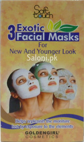 Soft Touch 3 Exotic Facial Masks 28 ML (Front)