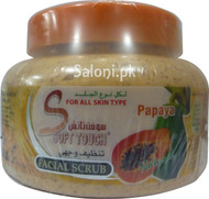 Soft Touch Natural Papaya Facial Scrub 500 Grams (Front)