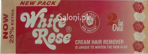 White Rose Cream Hair Remover 40 Grams (Front)