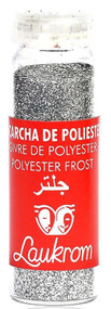 Stage Line Polyester Frost Glitter Plata (Silver)